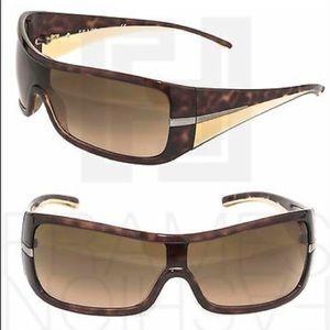 Prada Wrap Tortoise Beige Gradient Sunglasses